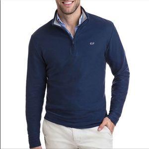 Vineyard Vines Navy 1/4 Saltwater Sweater Size M
